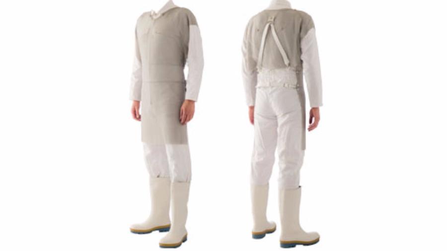 Vestimenta tipo Avental Malha de Aço PARINOX100C
