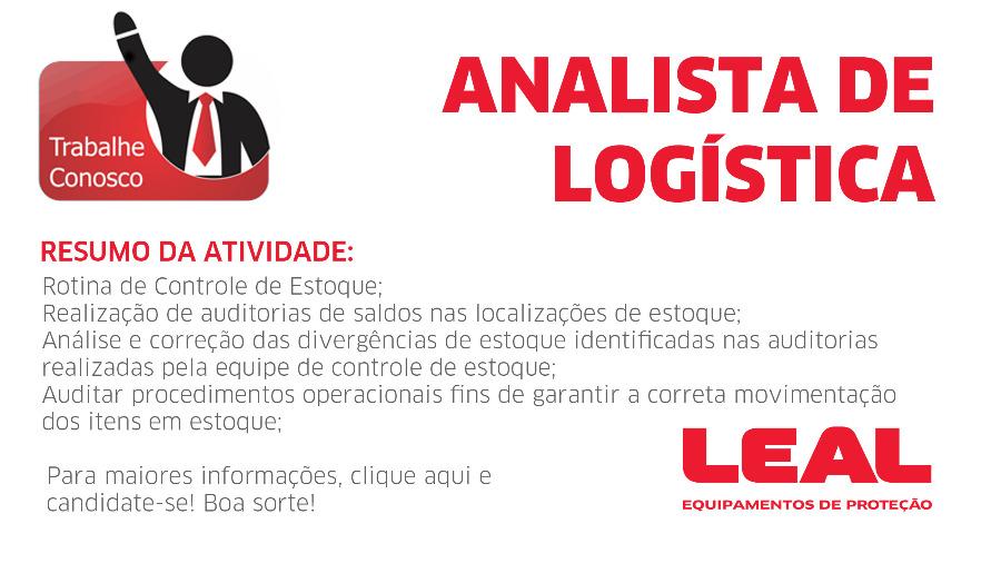 VAGA - ANALISTA DE LOGÍSTICA