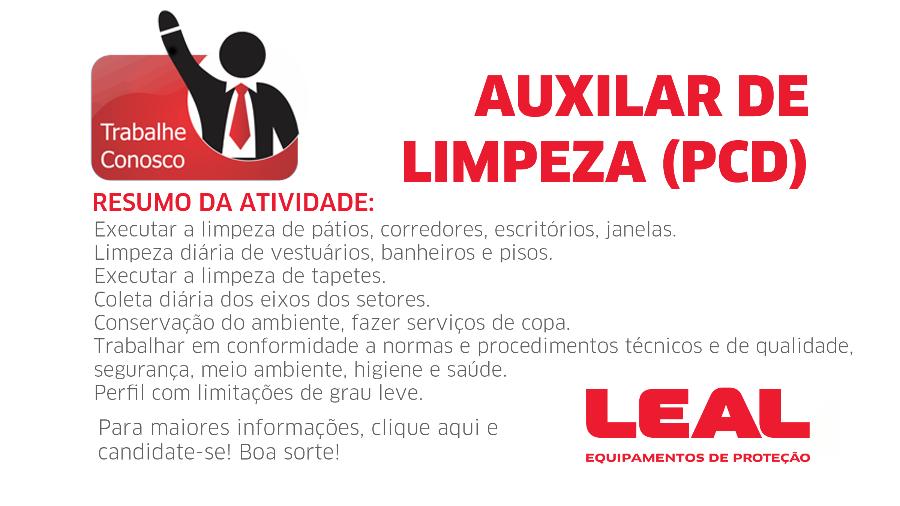 VAGA - AUXILIAR DE LIMPEZA